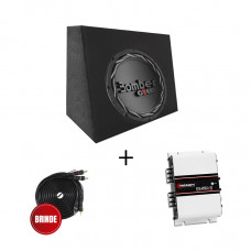 Kit Sub Caixa 10'' Pick UP + Alto falante 10'' 200w + Amplificador Taramps Ds250X2